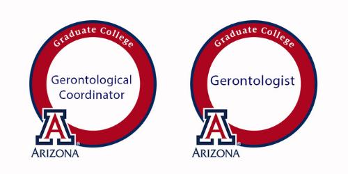 Graduate college digital badges for gerontologist and gerontological coordinator